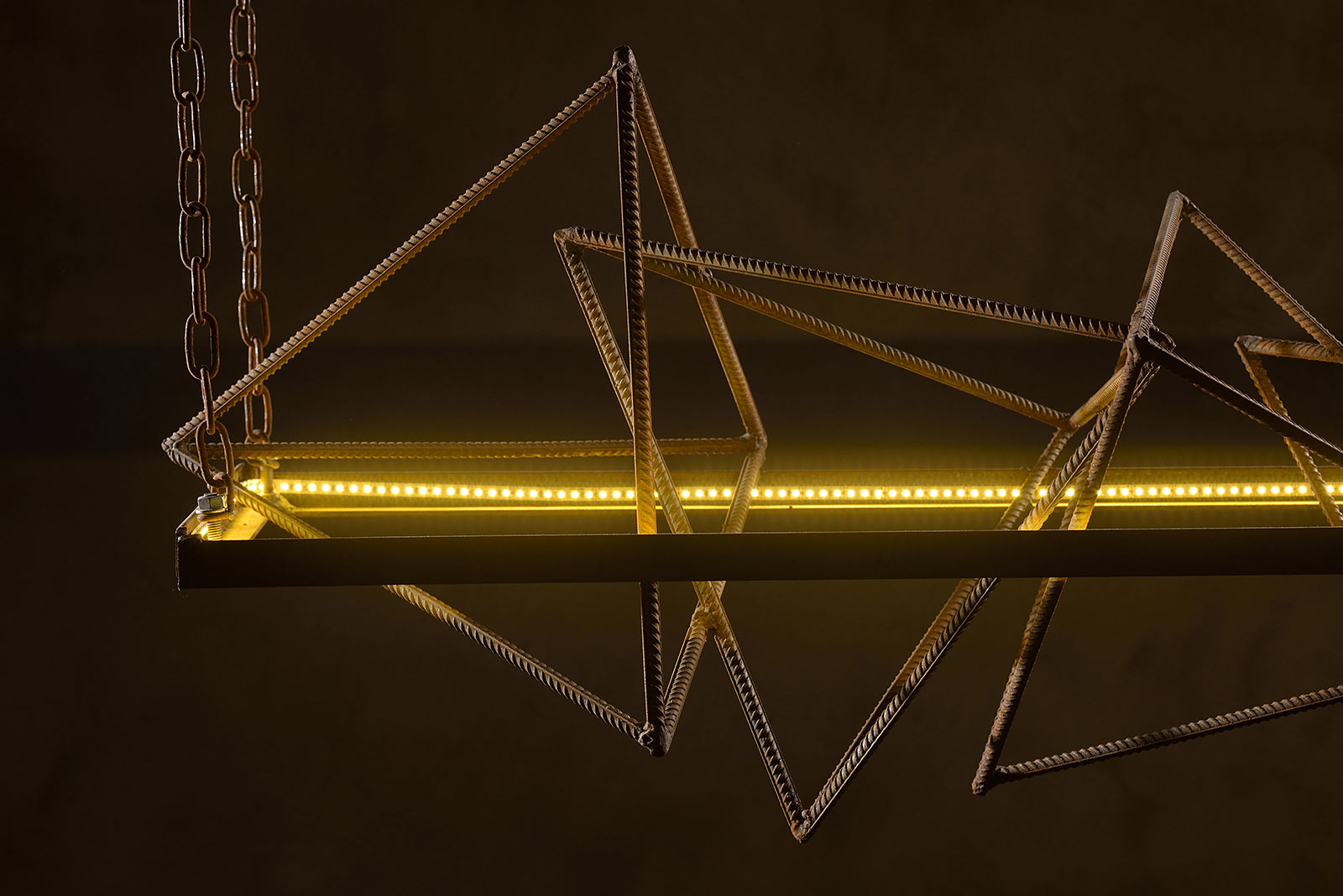 Mehr-Khaneh - industrial style light solution - close up photo