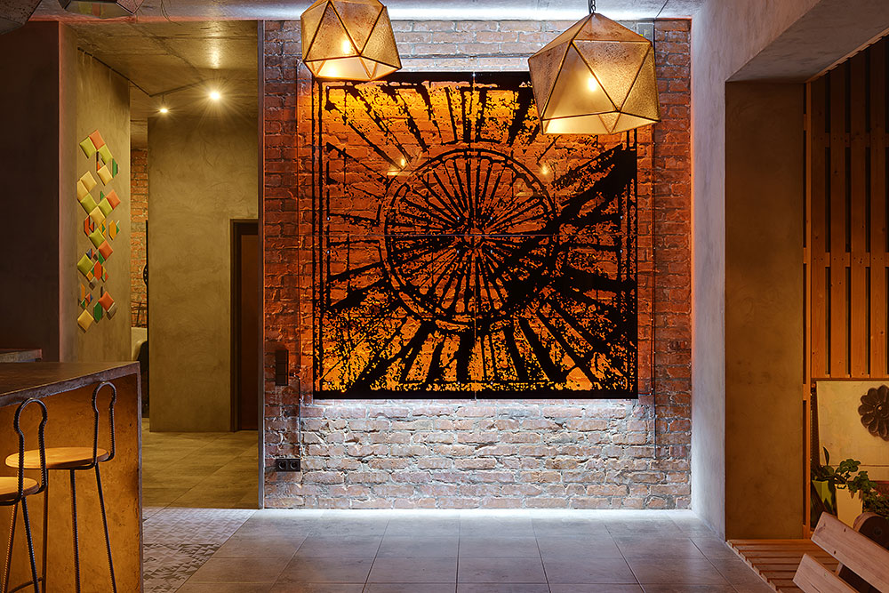 Mehr Khaneh - sun wall decor-photo during night