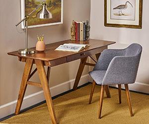 Mid Century Wood Desk