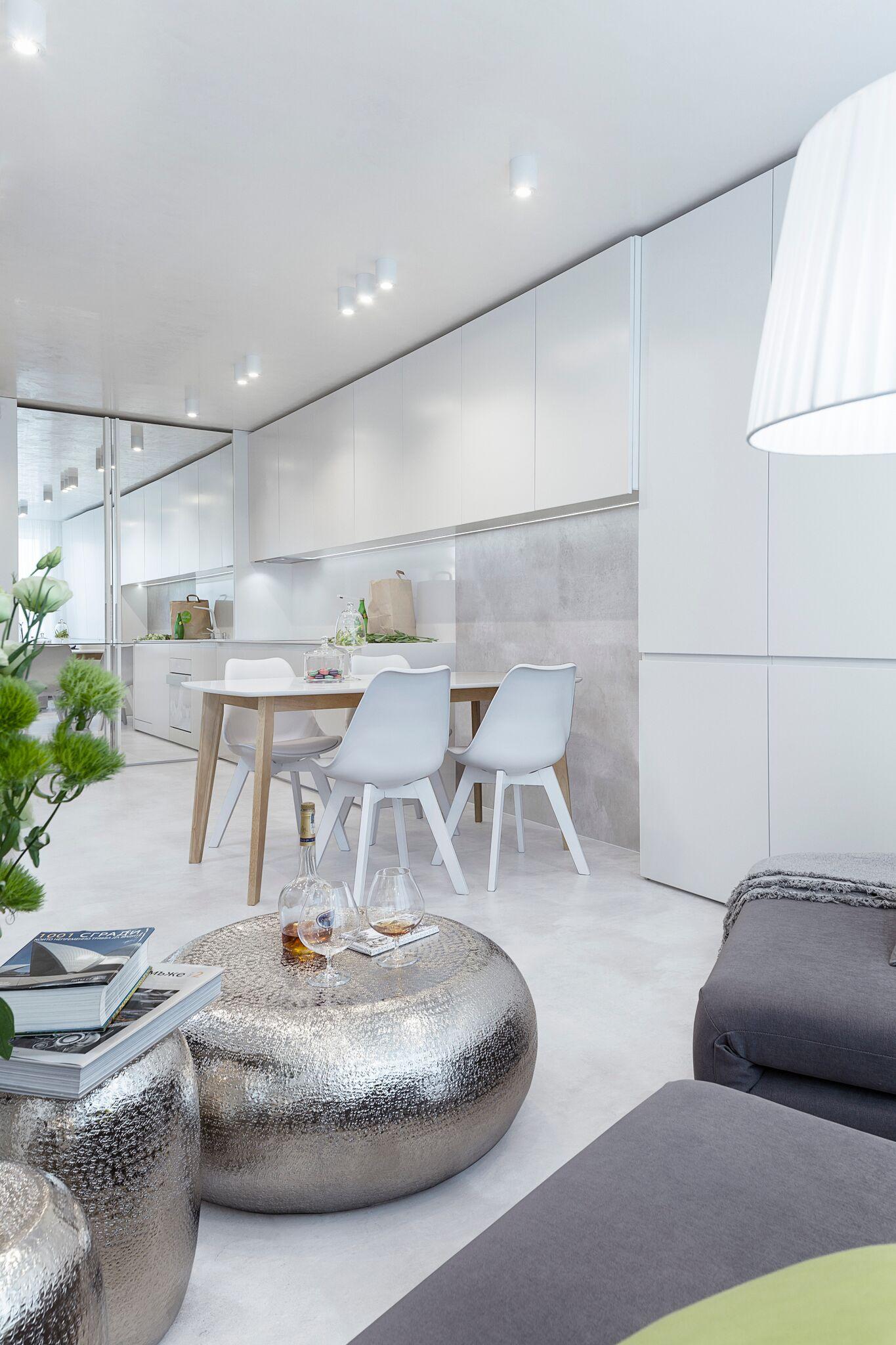 Minimalist modern white apartment