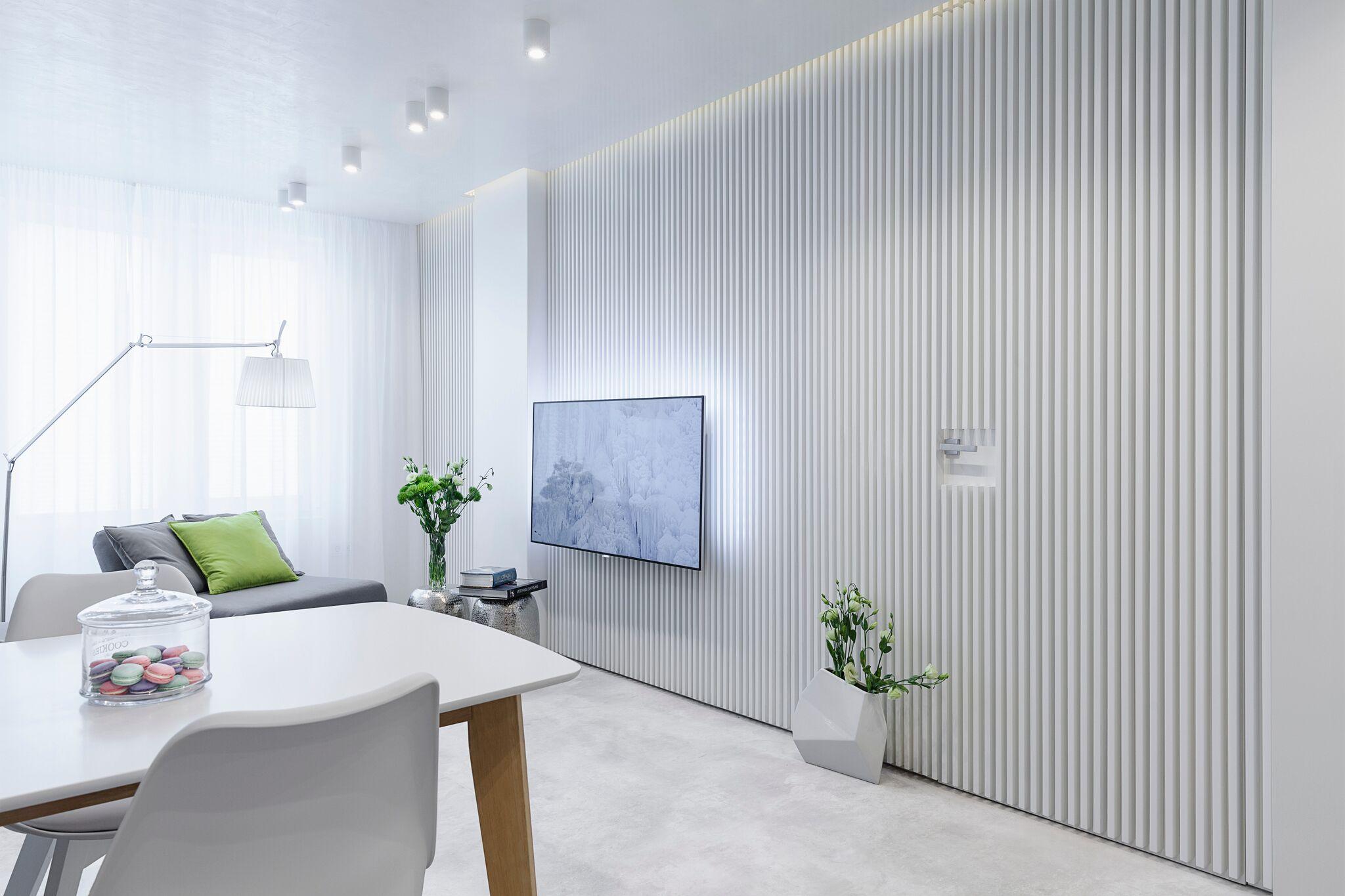 Minimalist modern apartment-living room