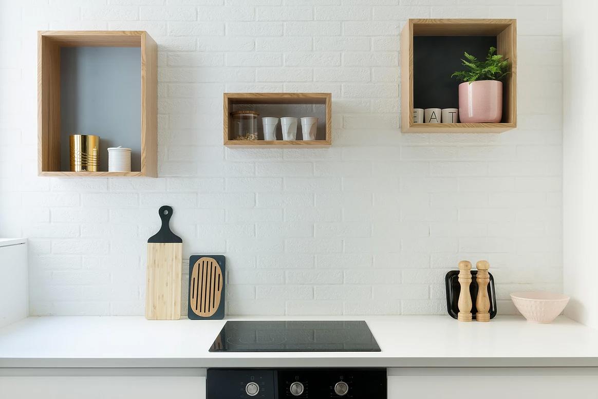 Modern kitchen in this urban apartment