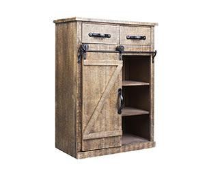 Rustic wood storage cabinet on Amazon