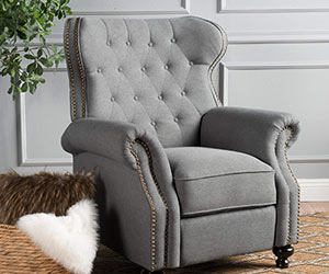 Traditional style Wingback Recliner Chair