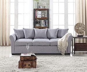 Traditional style sofa on Amazon