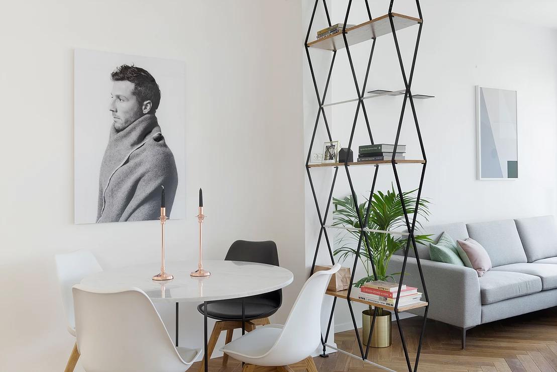 Urban apartment-dining-living-area-separator