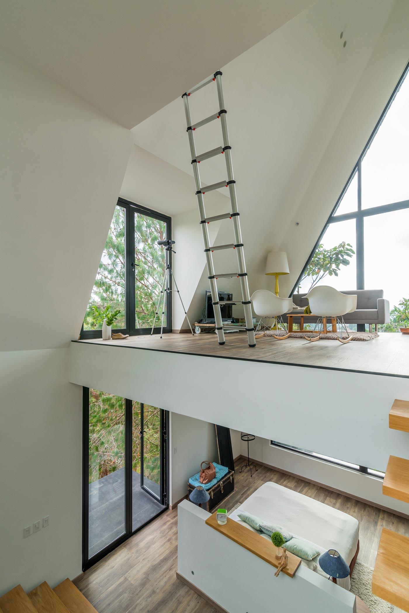 Three story interior architecture
