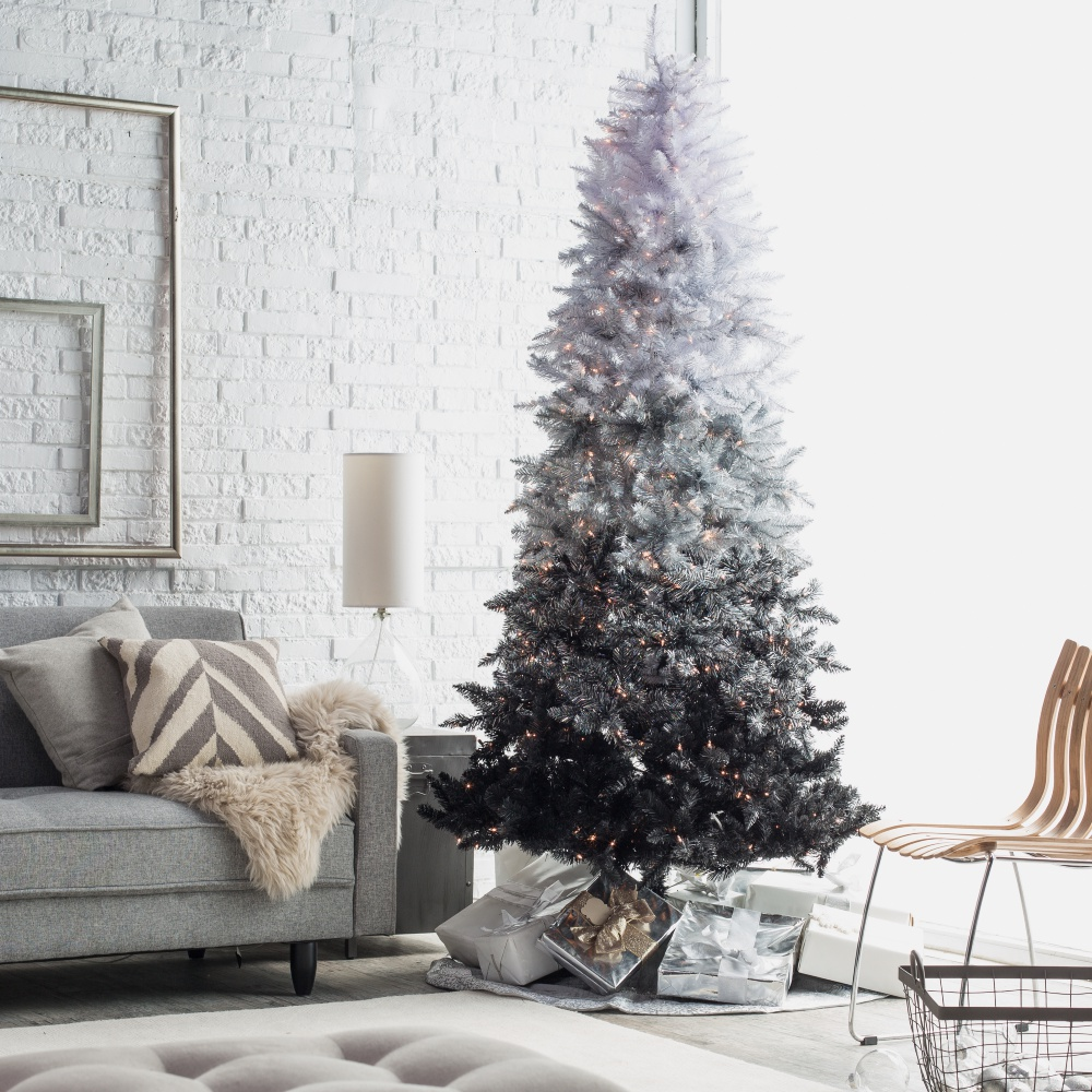 Color schemes for christmas trees - Ombre Christmas Decor