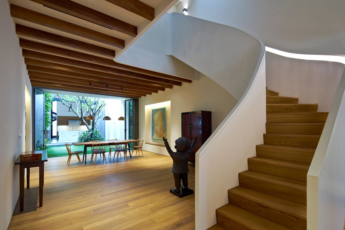 Winding Staircase In A Modern House