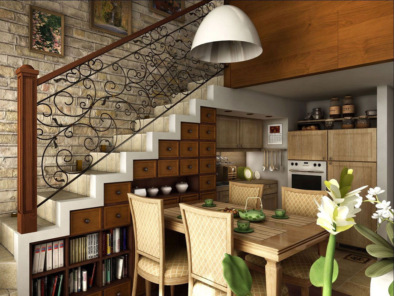 Staircase with under storage