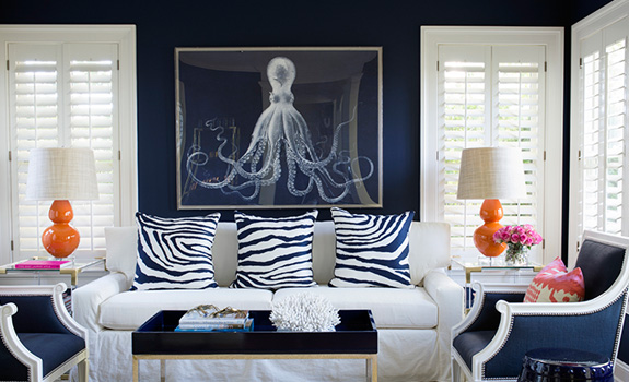 Navy Blue Living Room Ideas