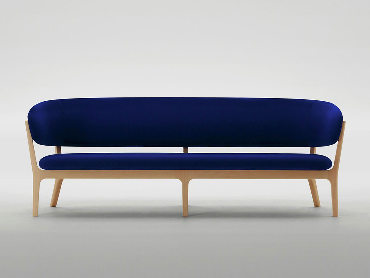 100 electric blue sofa emelia fabric sofabed 3seater navy b