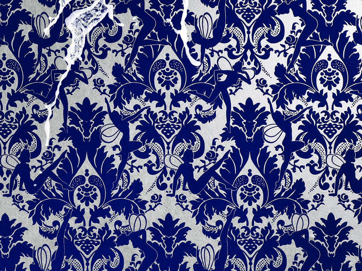 Navy blue and white wallpaper