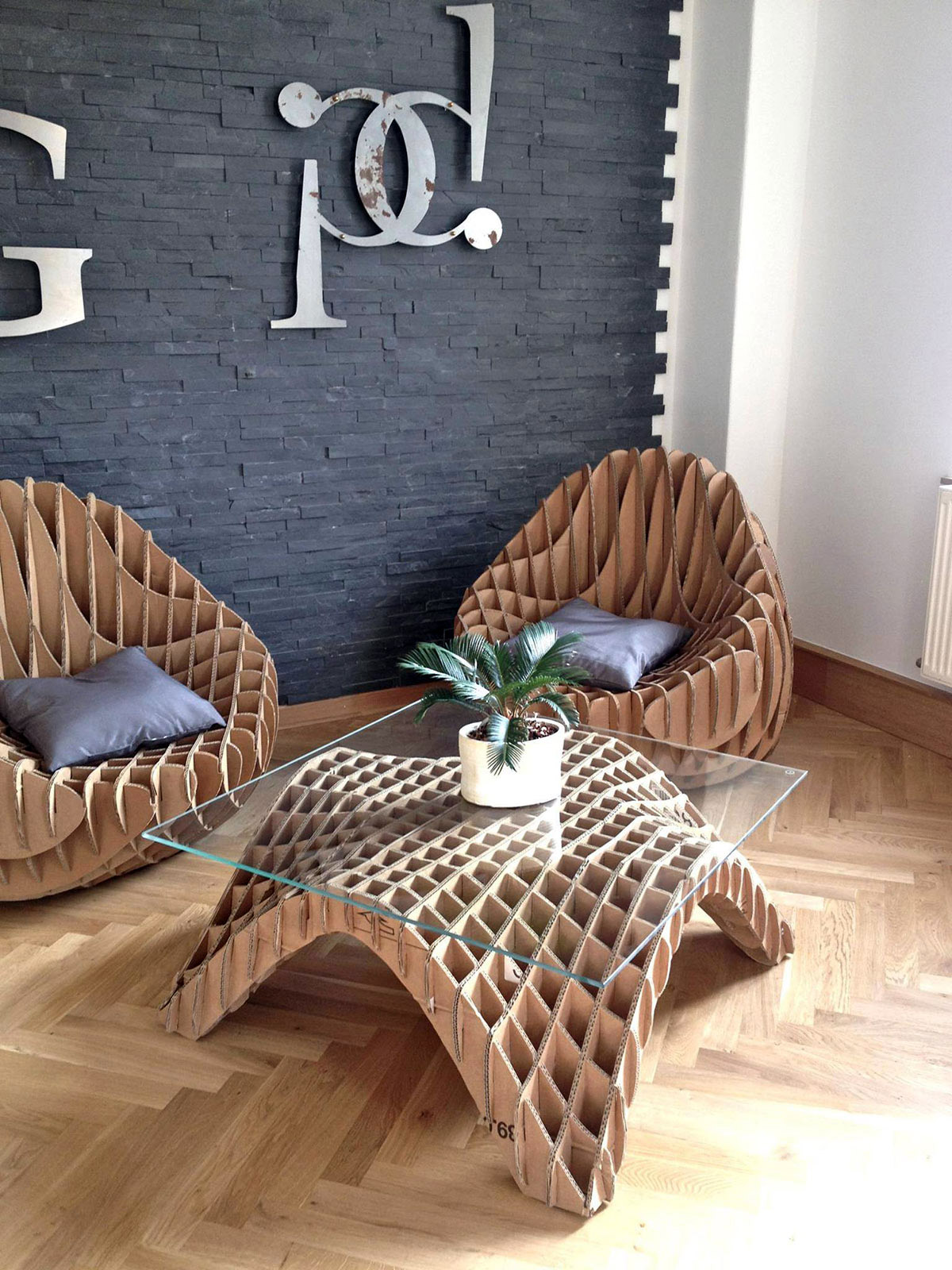 Unique Furniture Made of Recycled Cardboard – Adorable Home