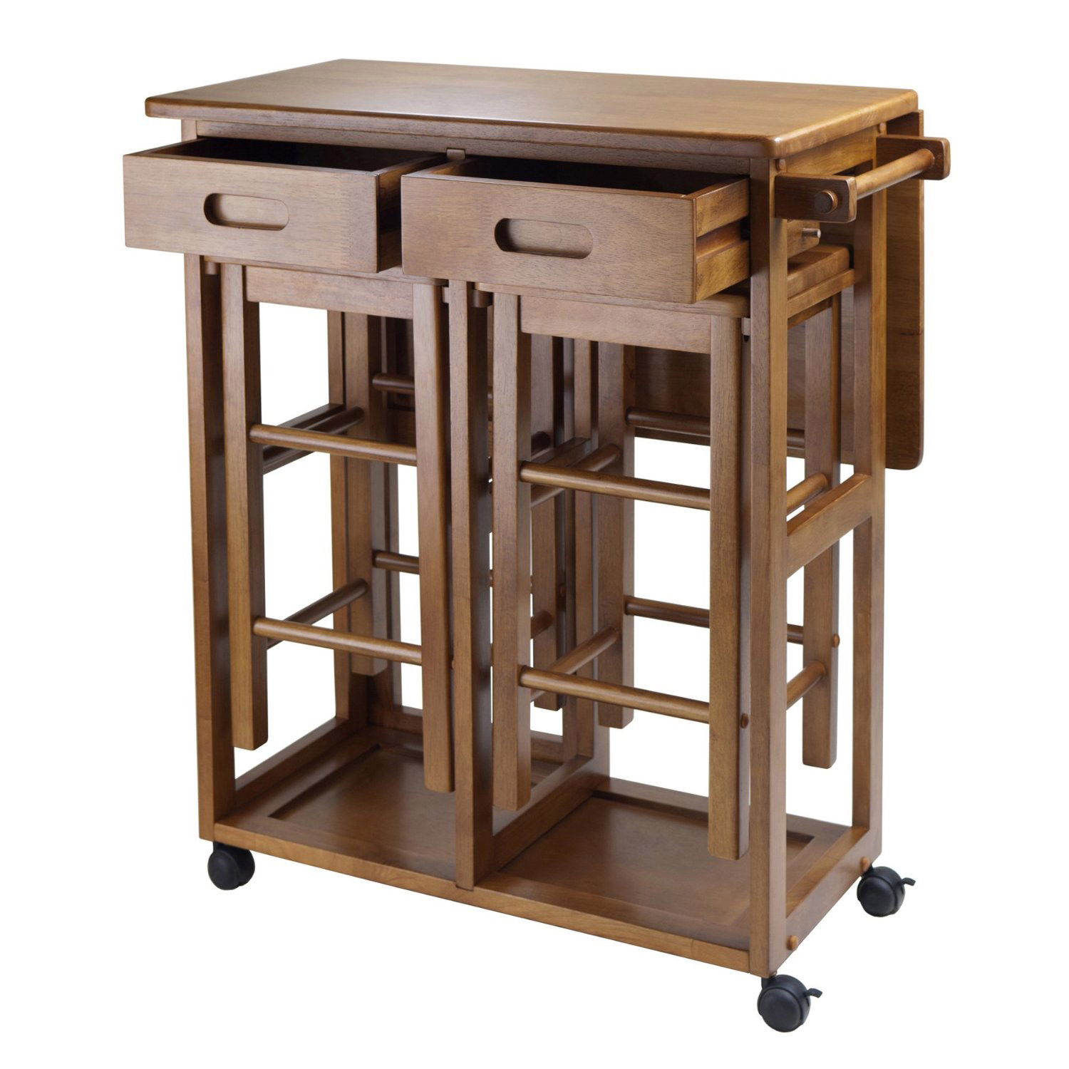 Choose a folding dining table for a small space adorable home - Space saving solutions for small homes set ...
