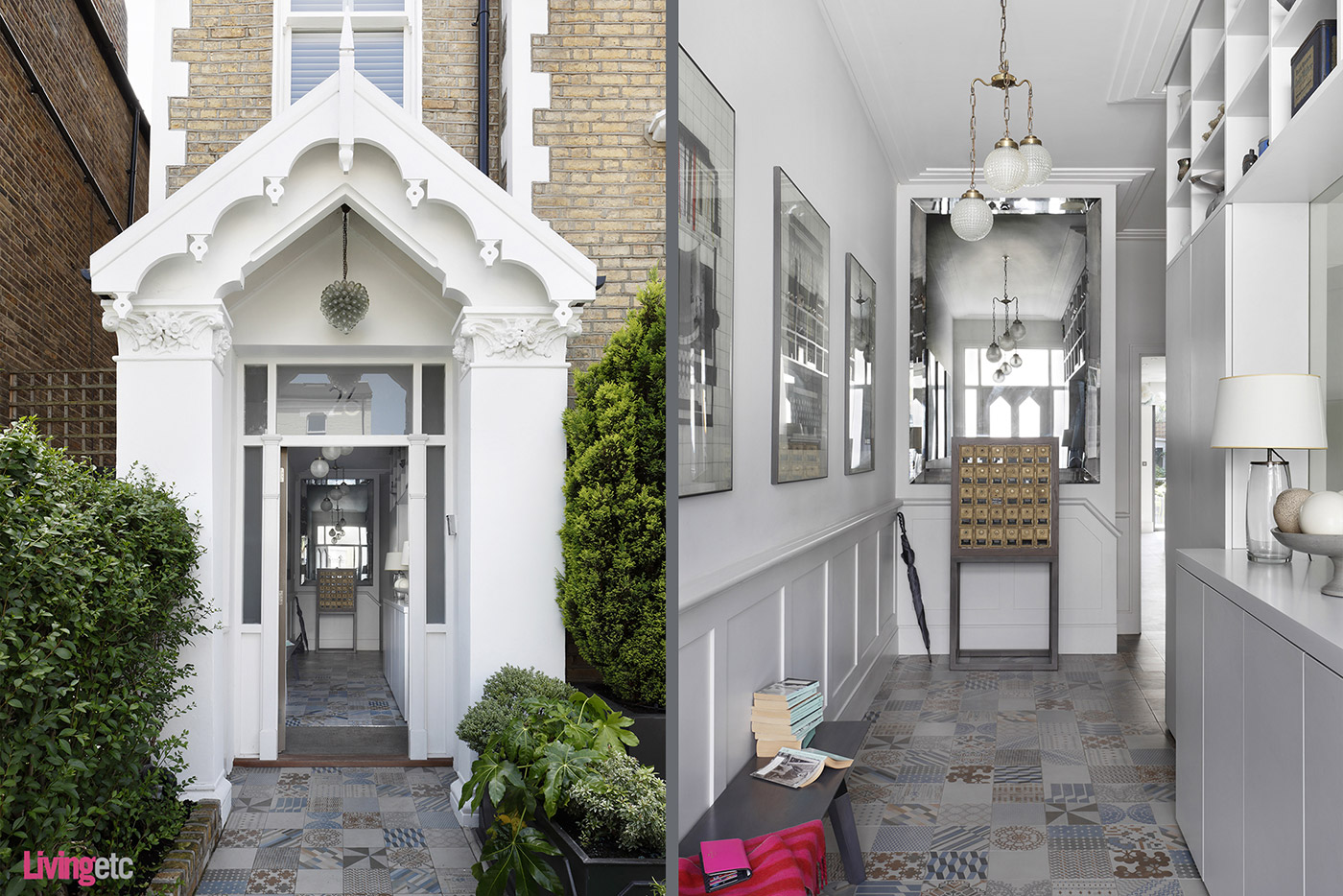 Front entrance of a renovated period house