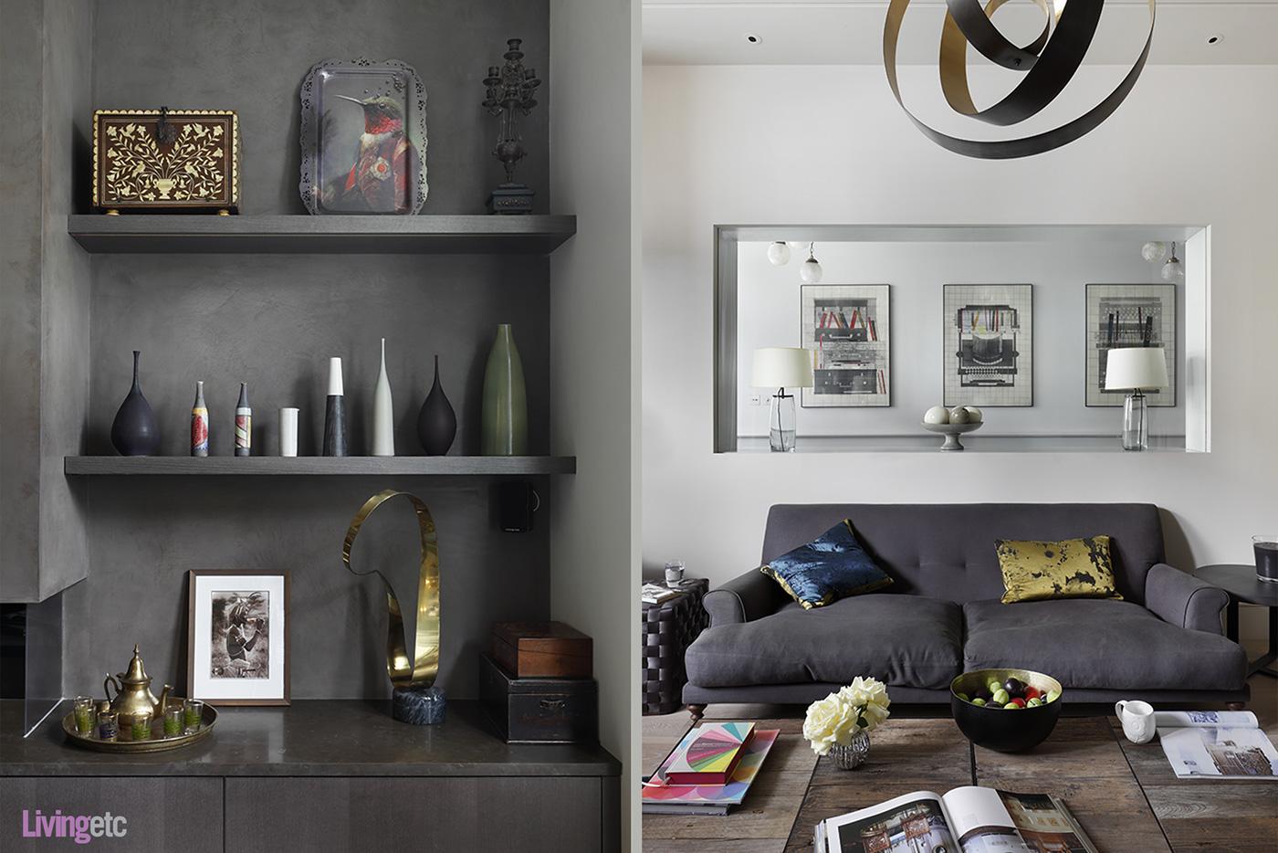 Dark grey home decor