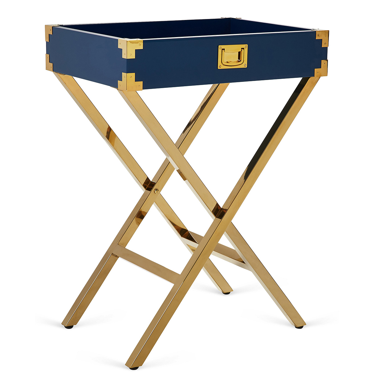 Blue and gold tray table