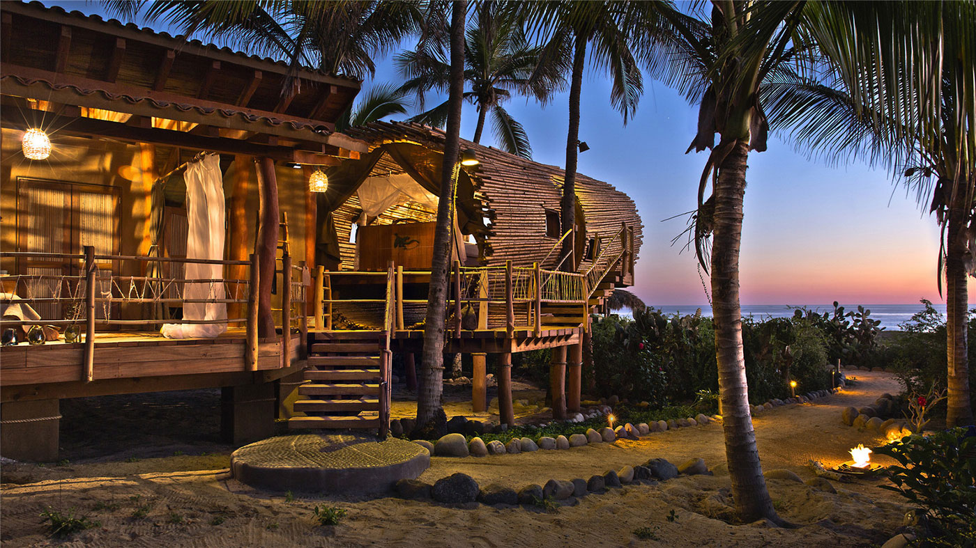 Luxury bamboo bungalow