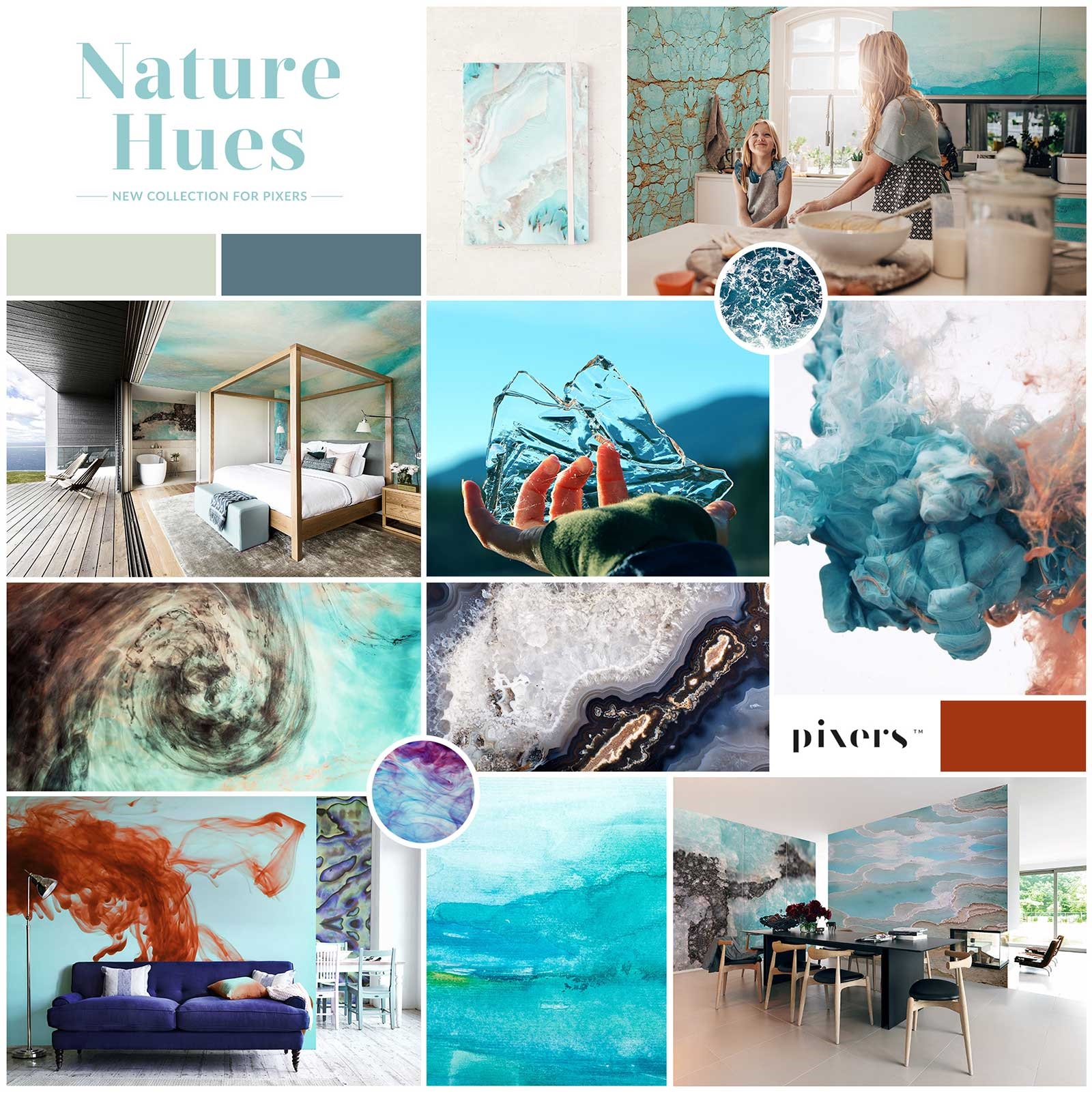 Nature Hues collection moodboard