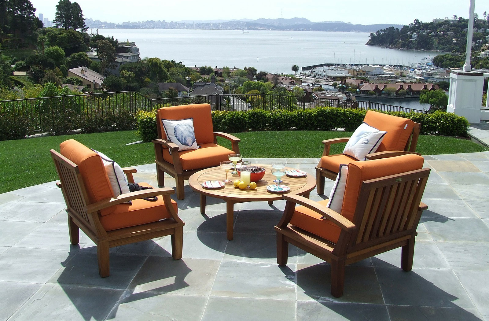 Paved patio with a great view