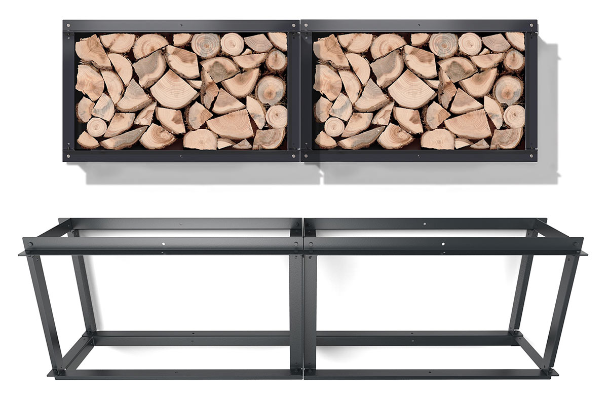 a solid iron firewood rack u2013 adorable home