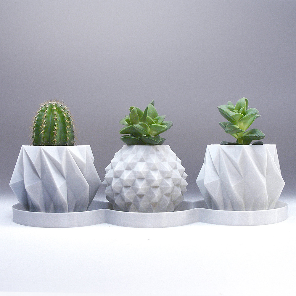 Adorable 3d printed vases for your home adorable home picture perfect 3d printed geometrical planters reviewsmspy