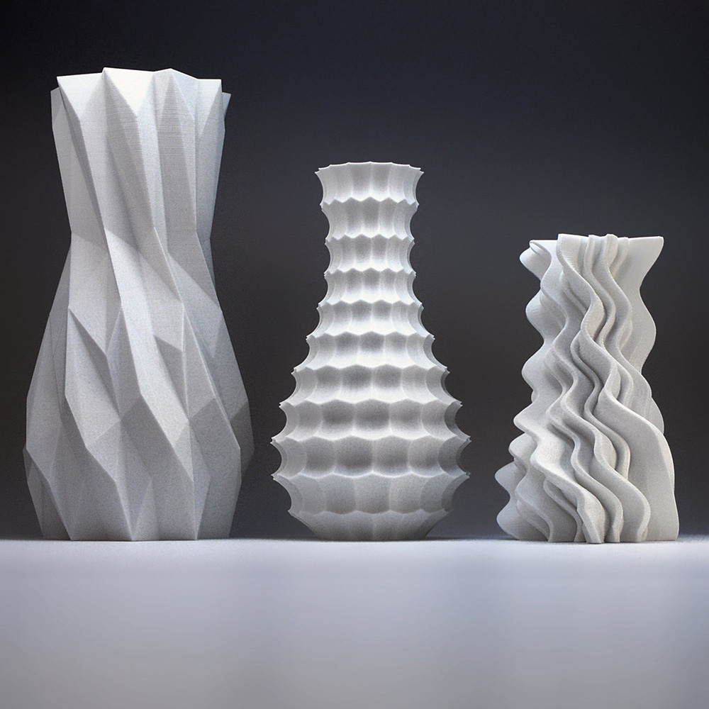 adorable 3d printed vases for your home adorable home. Black Bedroom Furniture Sets. Home Design Ideas