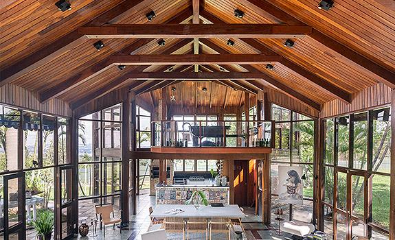 Brazilian House With Panoramic Glass Walls Adorable Home