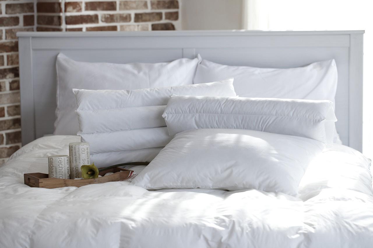 White pillows