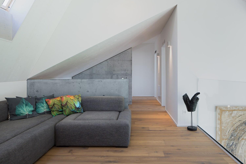 Contemporary attic space
