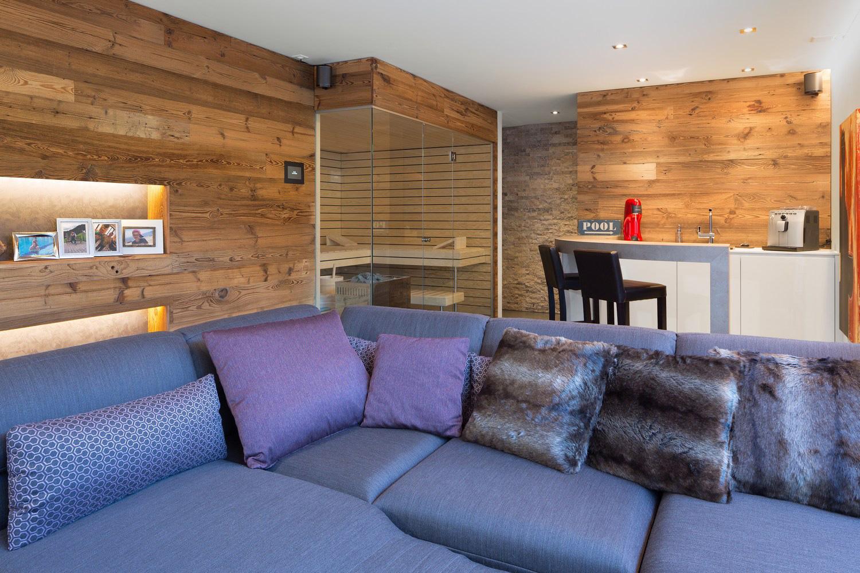 Luxury basement area