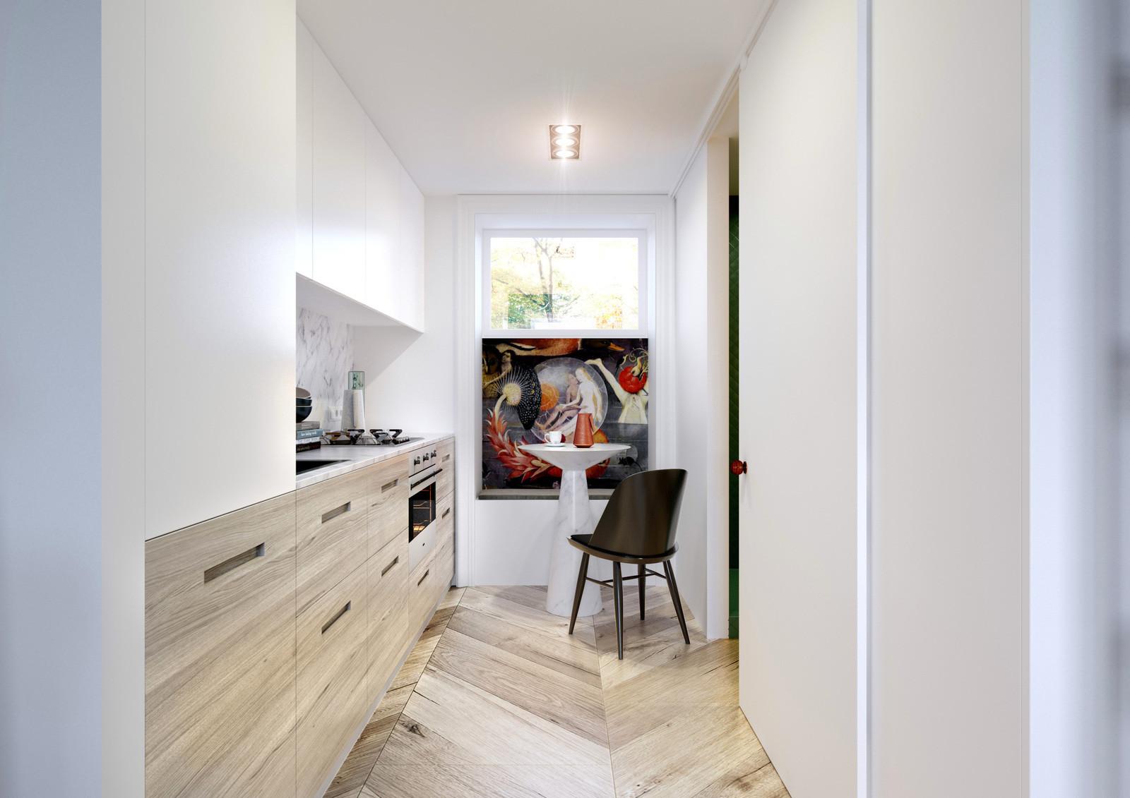 Modern white and cream kitchen