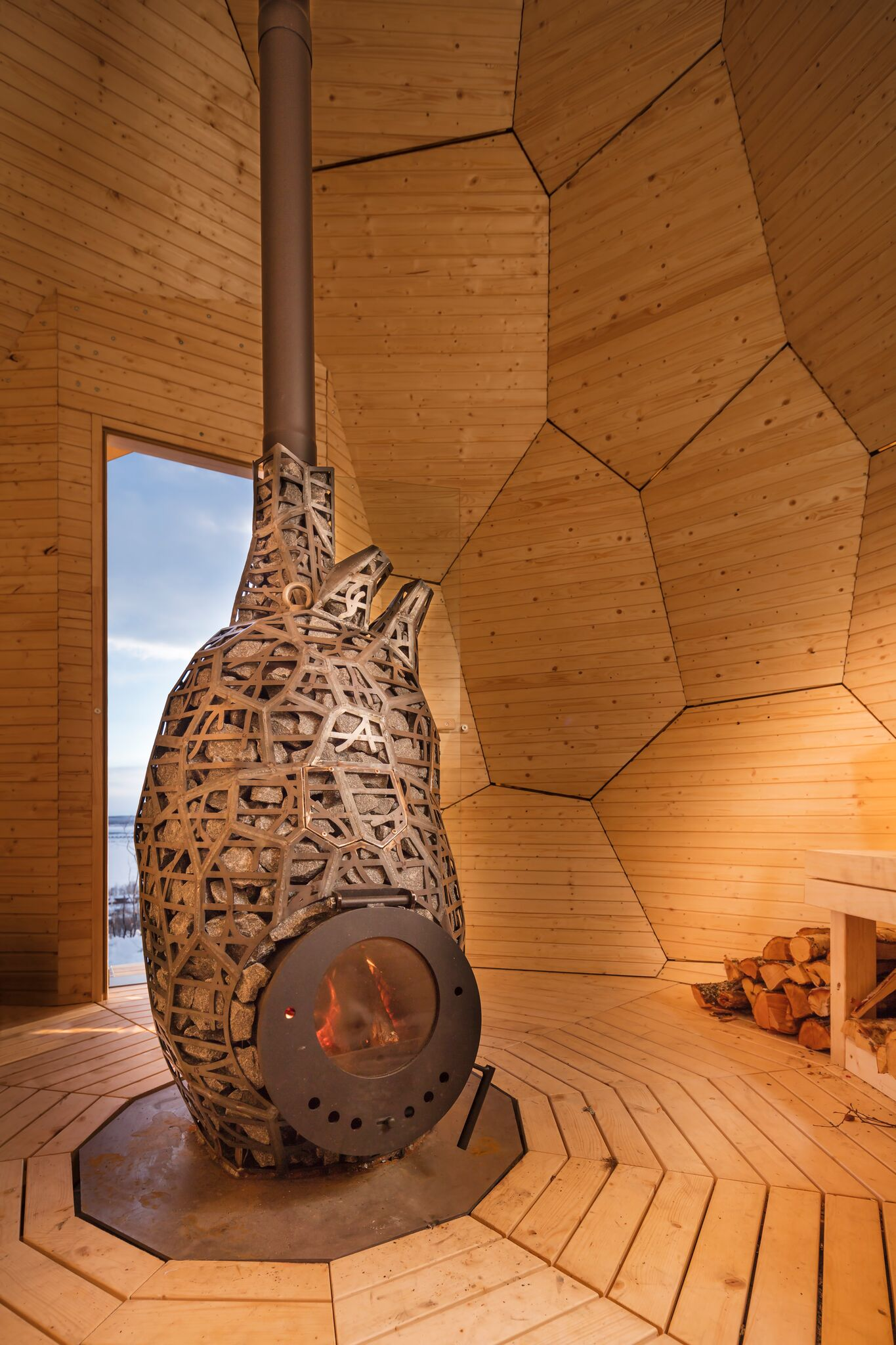 heart shaped wood burner