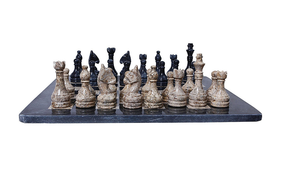 This is not just another board game! This marble chess set ...