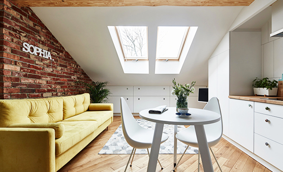 Small Attic Apartment on Only 19 sqm.
