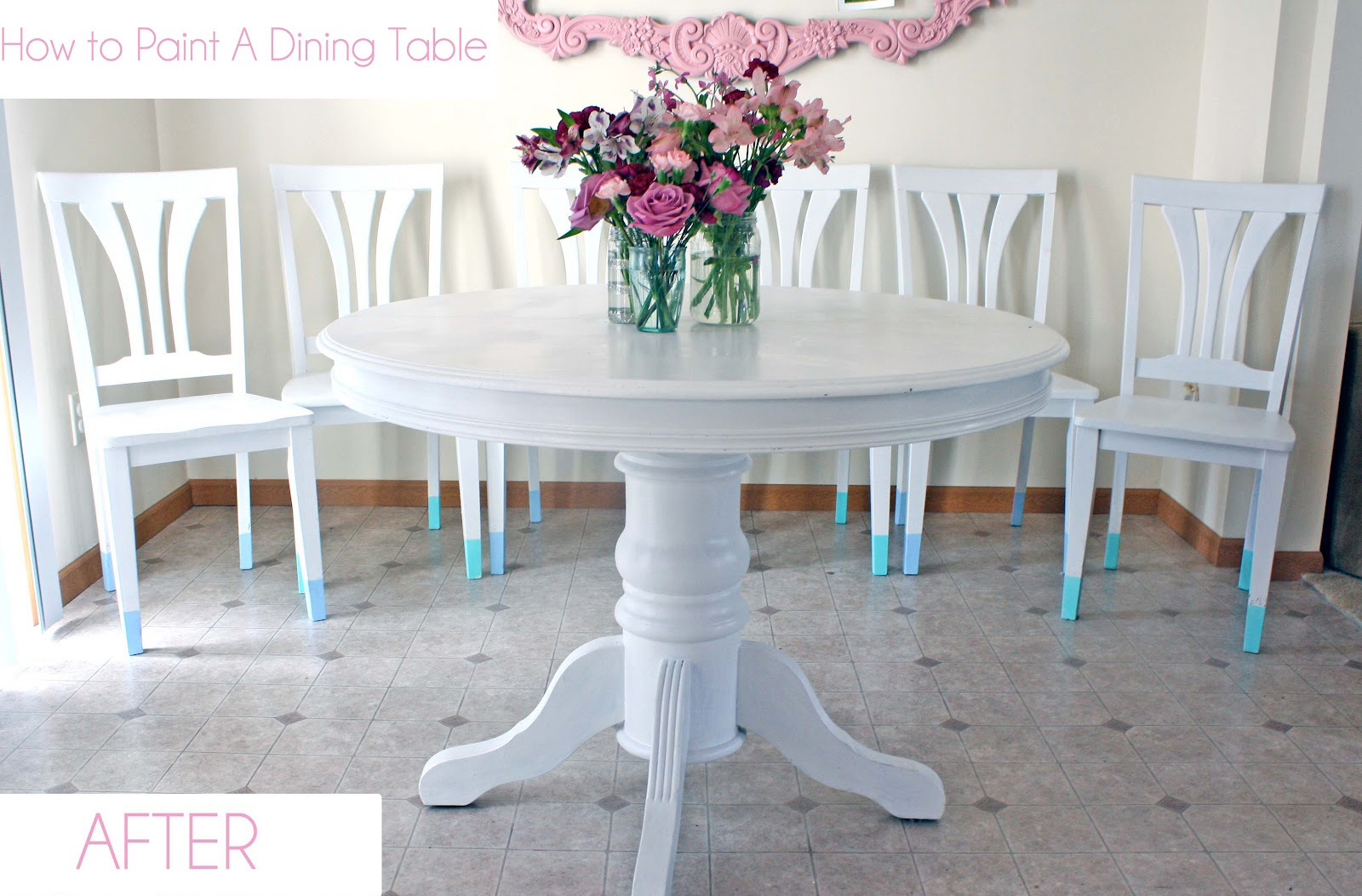 How to paint a dining room set