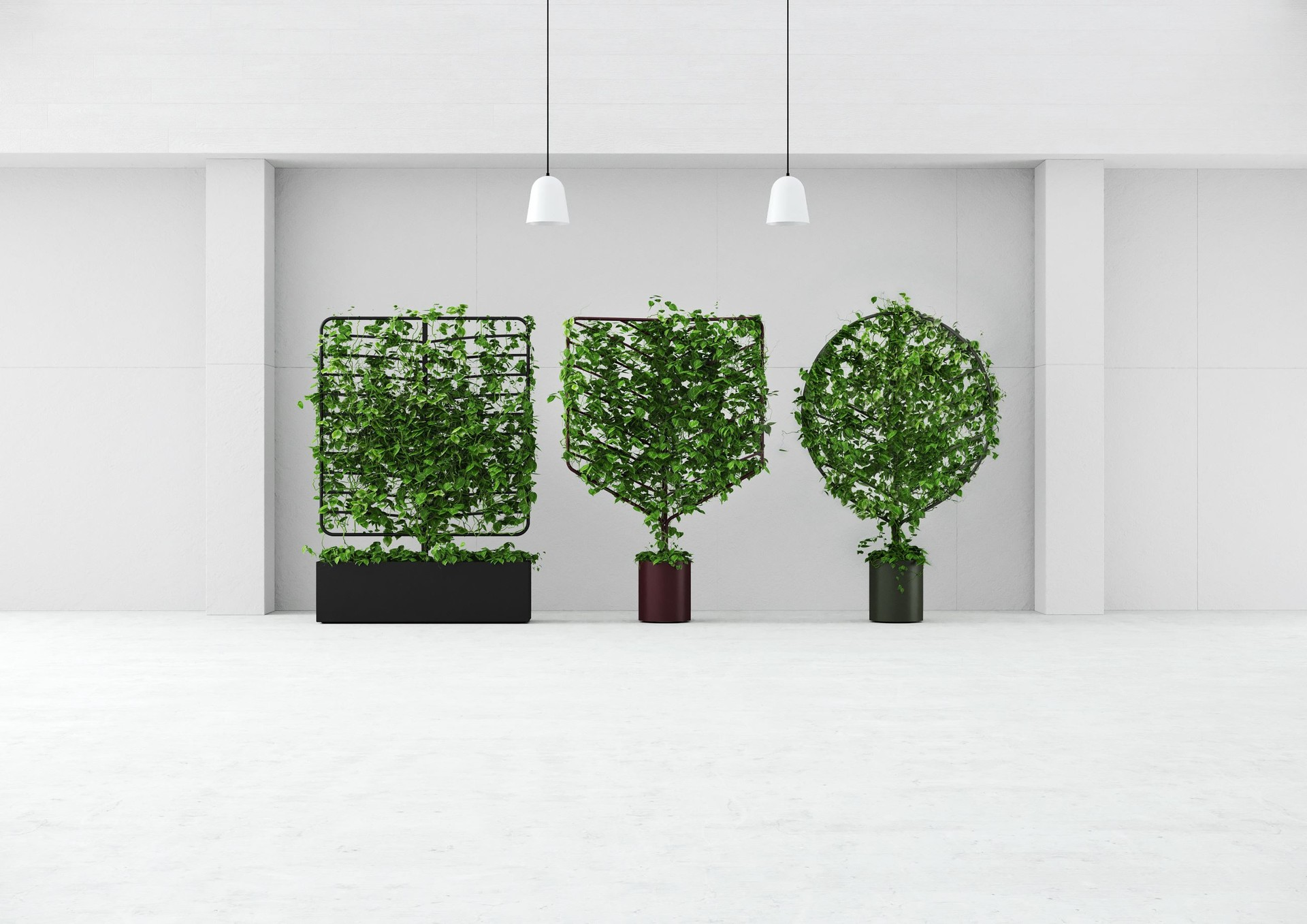 Planter screens in 3 shapes