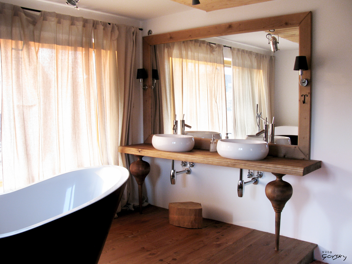 Luxury bathroom with a freestanding tub