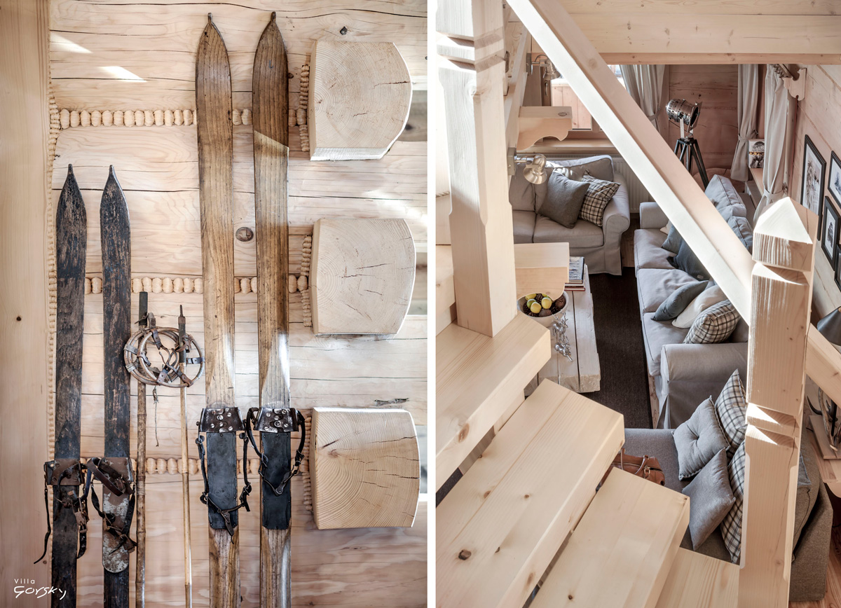 Wooden ski chalet