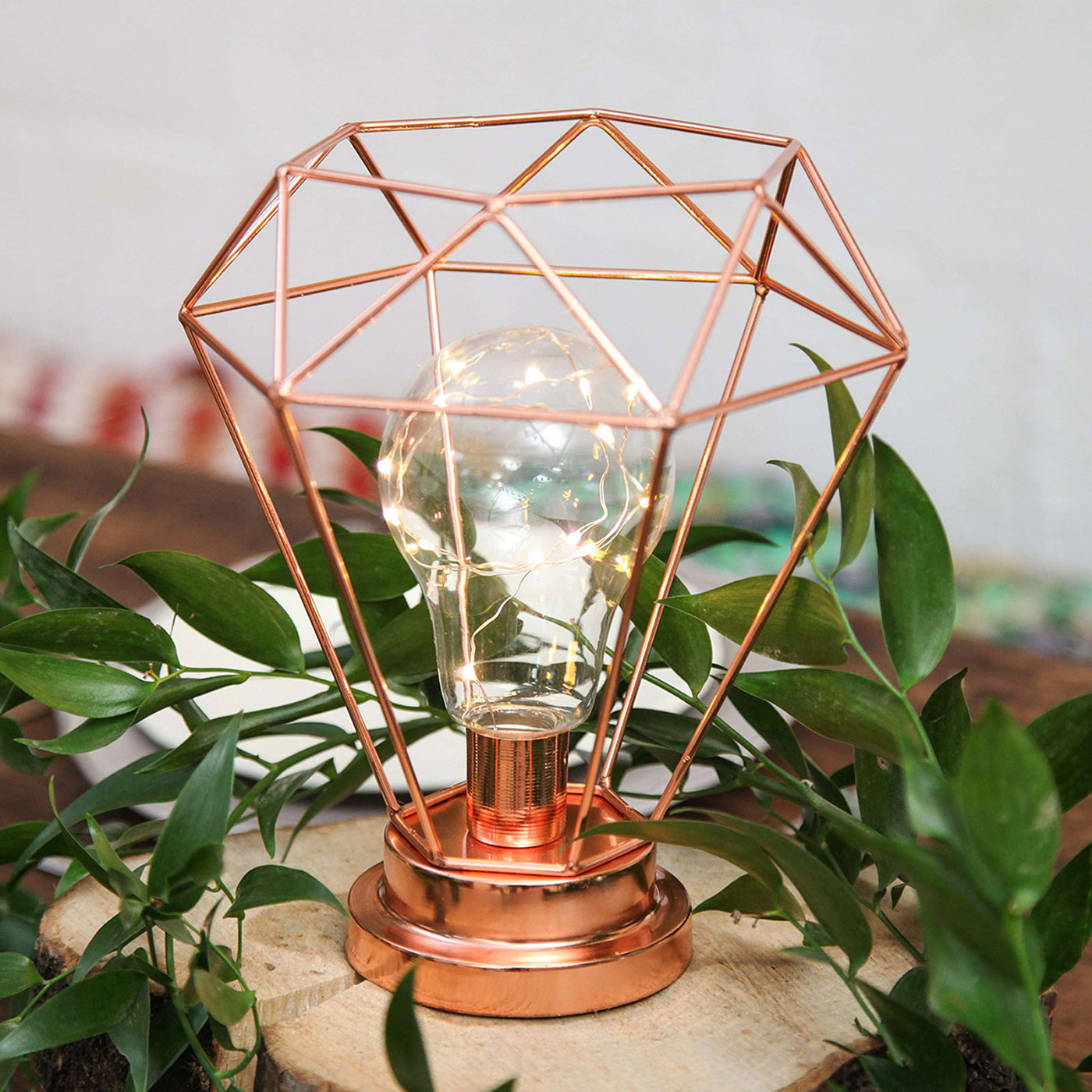 Copper lighting fixture