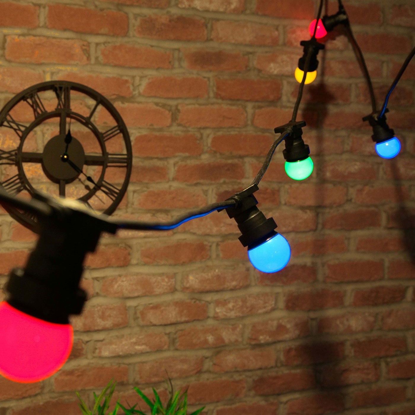 Colorful string lights