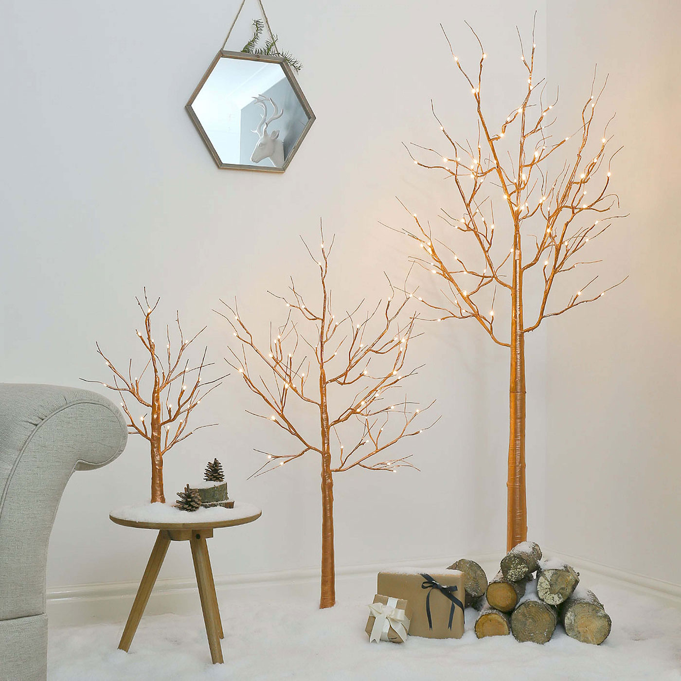 LED trees in the interior