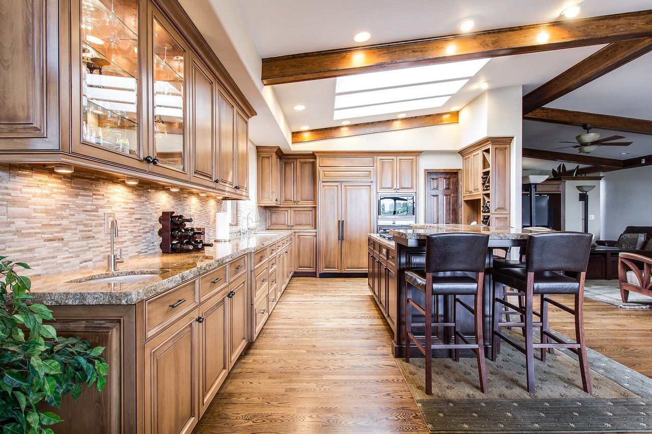 Luxury wooden kitchen