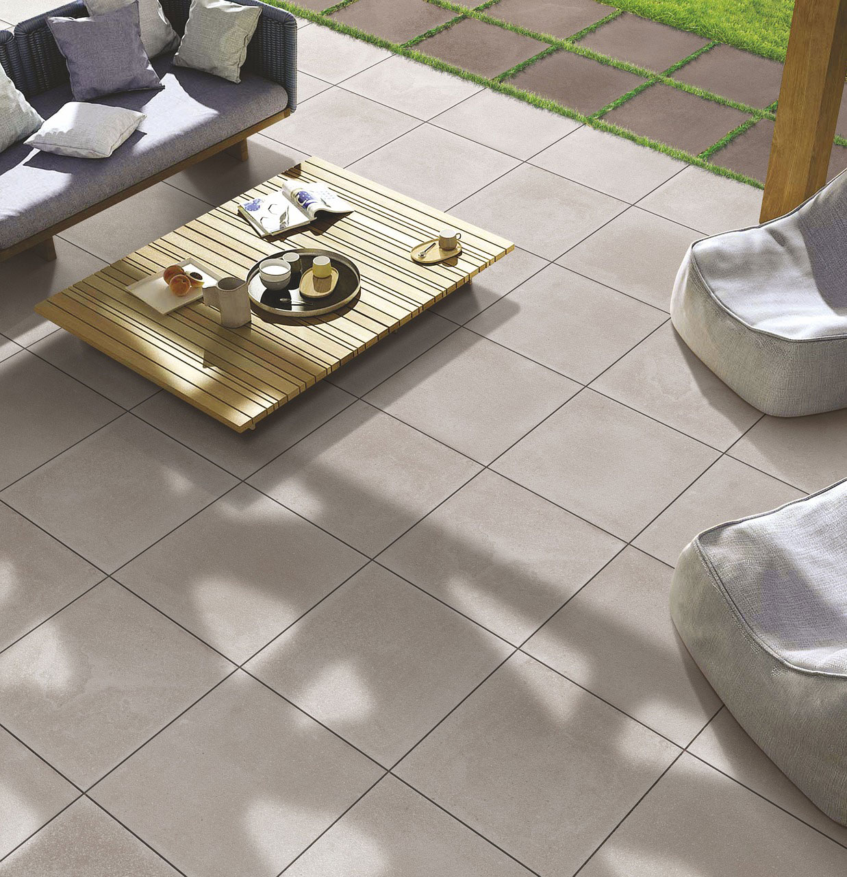 Square patio tiles