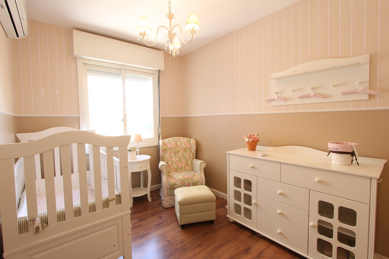 Nursery in cream colors