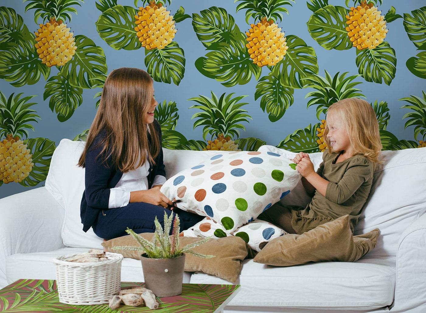 Pineapple wall murals