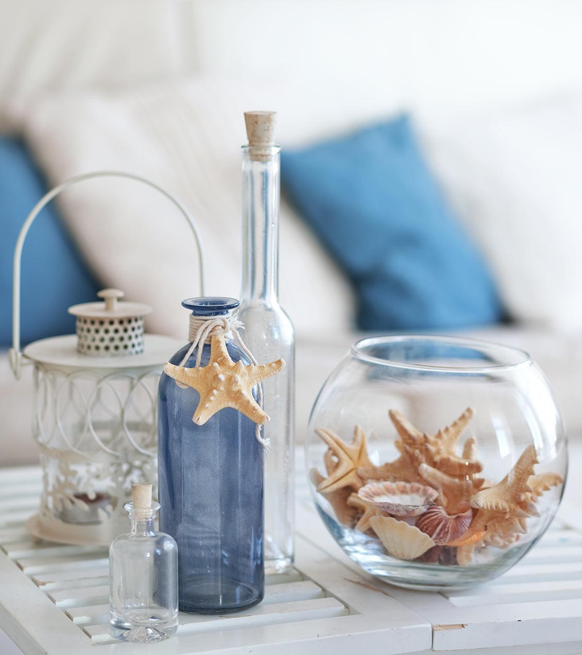 DIY Easy Beach Inspired Centerpieces
