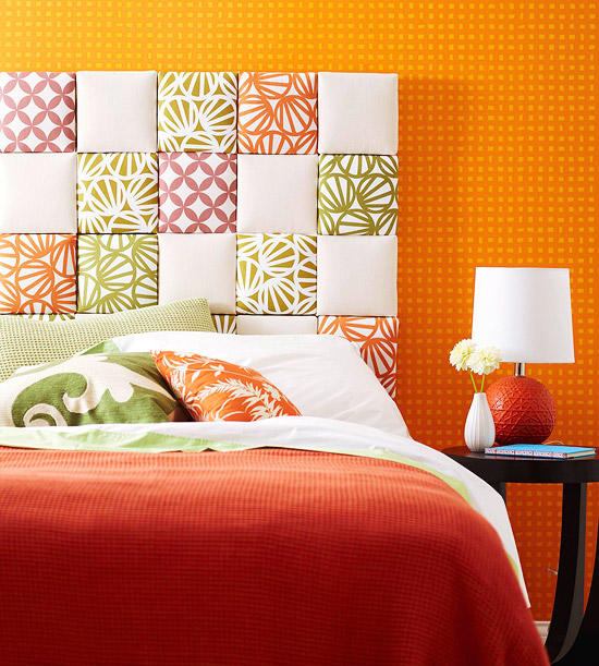 Quilted headboard