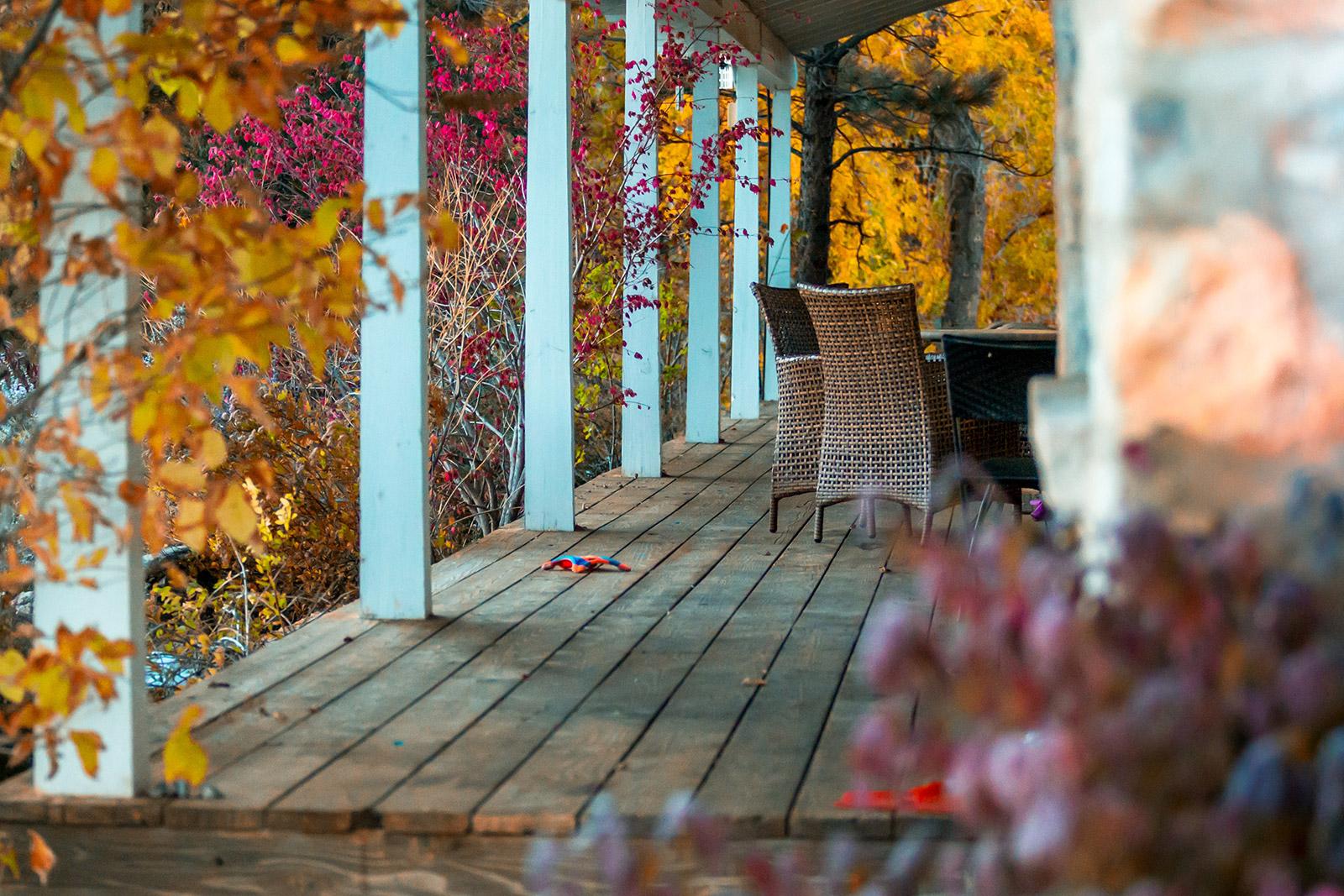 Porch during Autumn